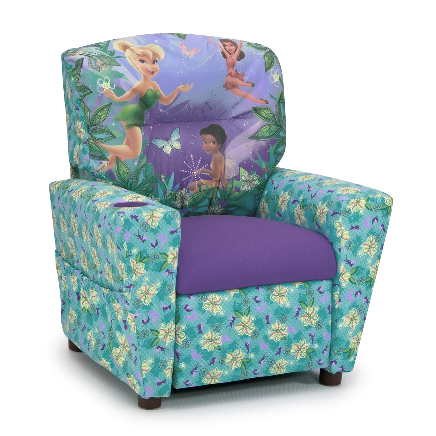 children s living room chairs small vintage chair disney fairies child 39s recliner blue and purple value