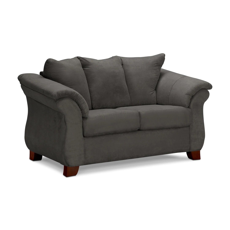 Adrian Sofa And Loveseat Set  Graphite  Value City Furniture