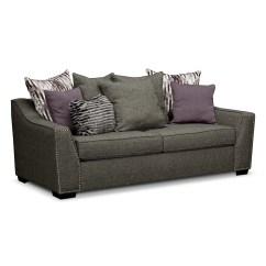 Grey Carleton Nailhead Sofa Italian Bedroom Furniture Ritz Gray American Signature