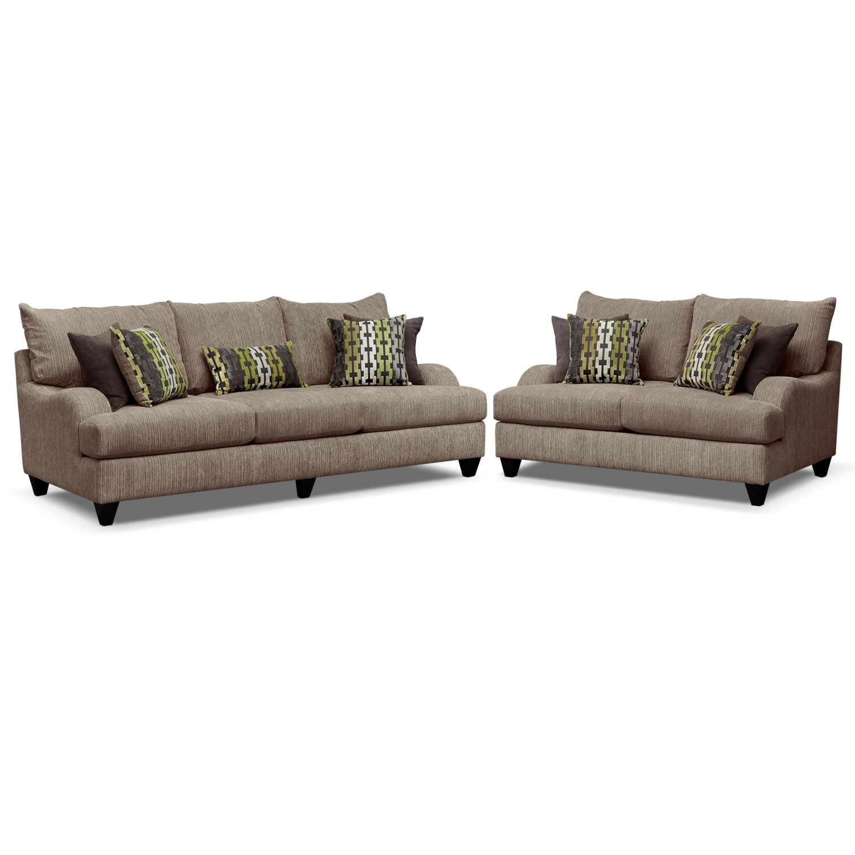 santa monica sofa set ashley furniture millennium leather value city store living room sets