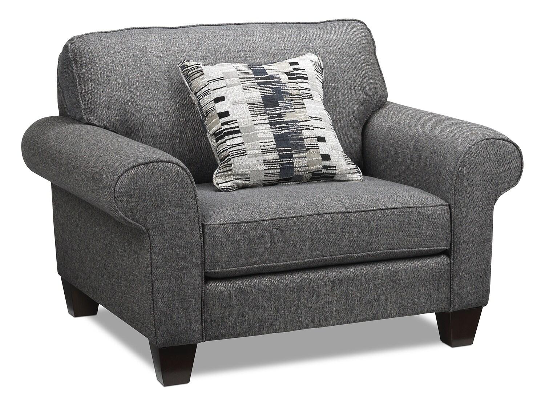 grey bucket chair folding no back drake sofa leon 39s