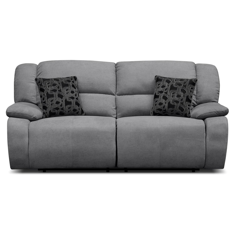 grey power reclining sofa best foam for seat cushions fortuna gray furniture