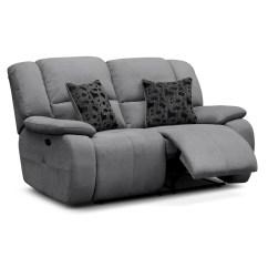 Gray Microfiber Power Reclining Sofa Fabric Guard Destin Upholstery Loveseat Value