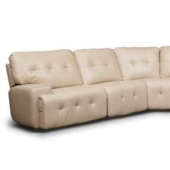 Leather Possibilities Track Arm Sofa Skirted Or Not Value City Furniture