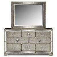 Angelina Dresser and Mirror - Metallic | Value City Furniture