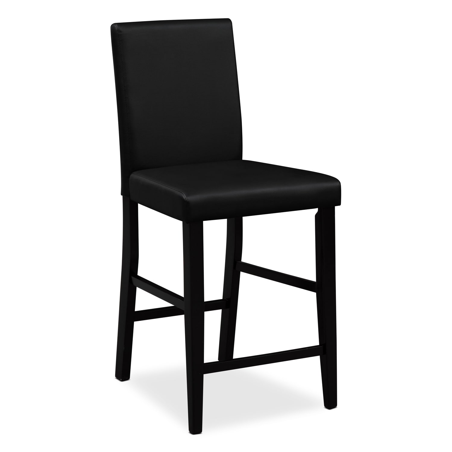 black bar stool chairs adirondack chair footstool plans shadow counter height value city furniture