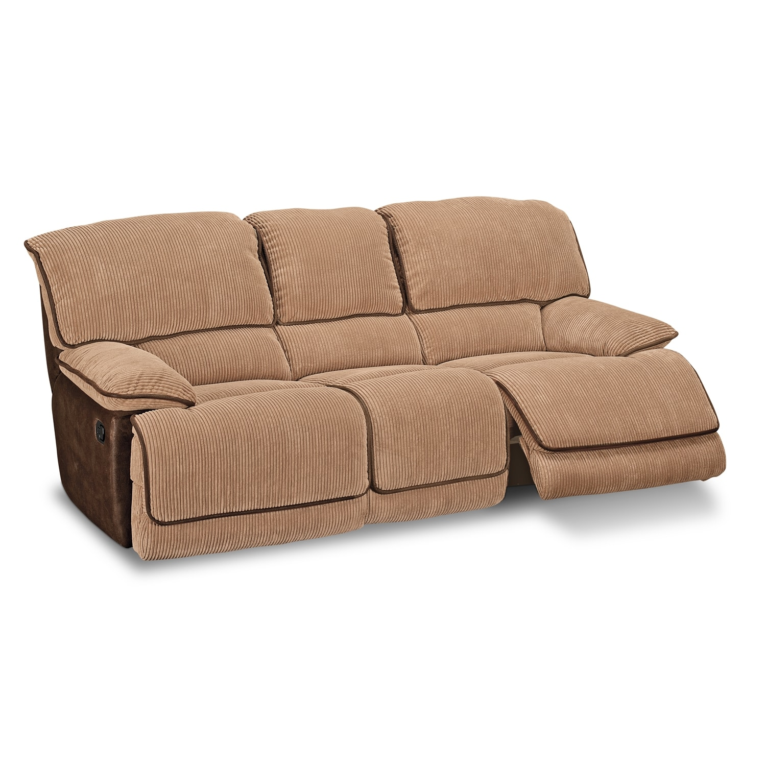 dual reclining sofa and loveseat best quality chesterfield laguna upholstery value city furniture