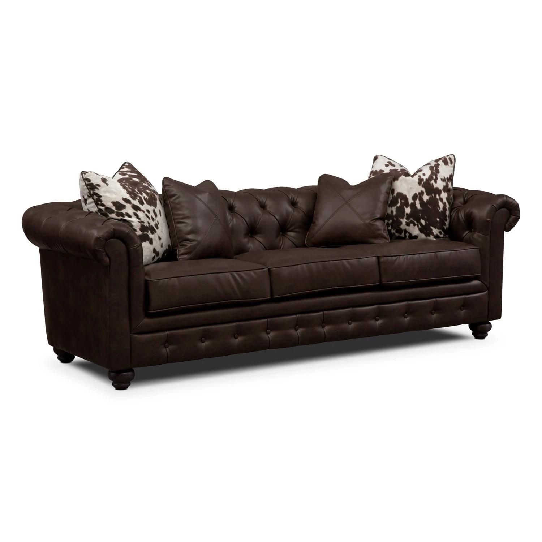 Value City Furniture Leather Sofa