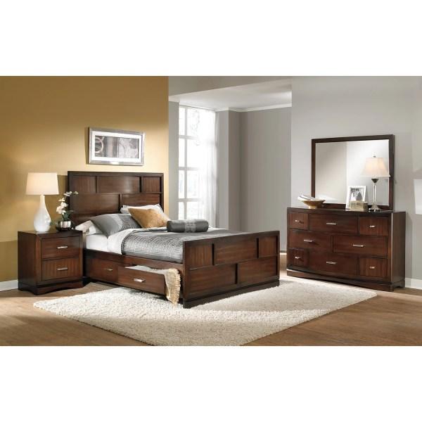 Toronto 6-piece King Storage Bedroom Set - Pecan
