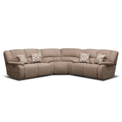 Justin Ii Fabric Reclining Sectional Sofa Modular Small Es Fortuna Beige 3 Pc Power