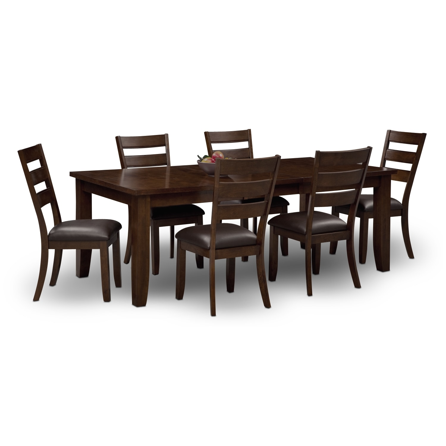 dining room sets 6 chairs small shower for elderly abaco table and brown value city furniture