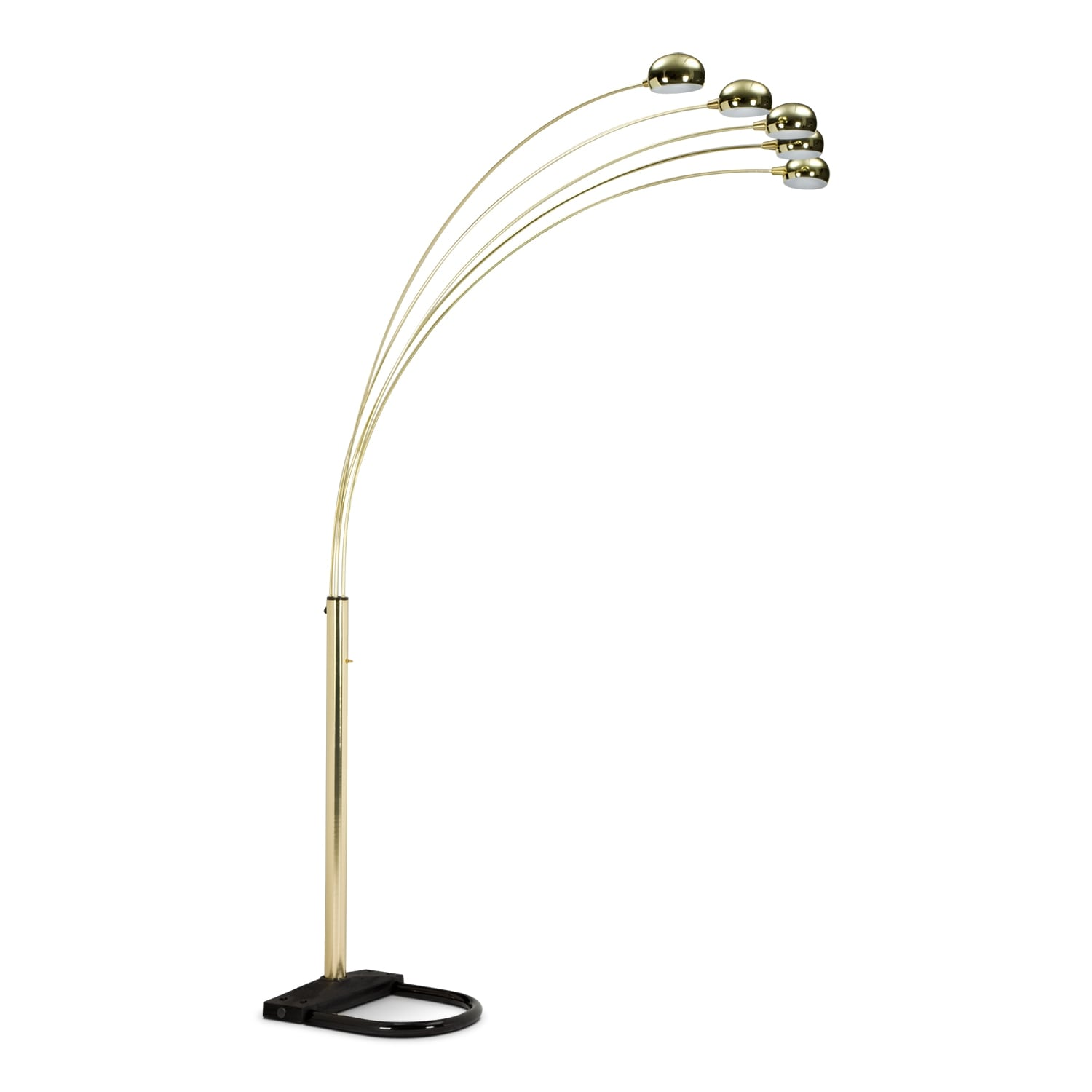 Brass Arc Floor Lamp