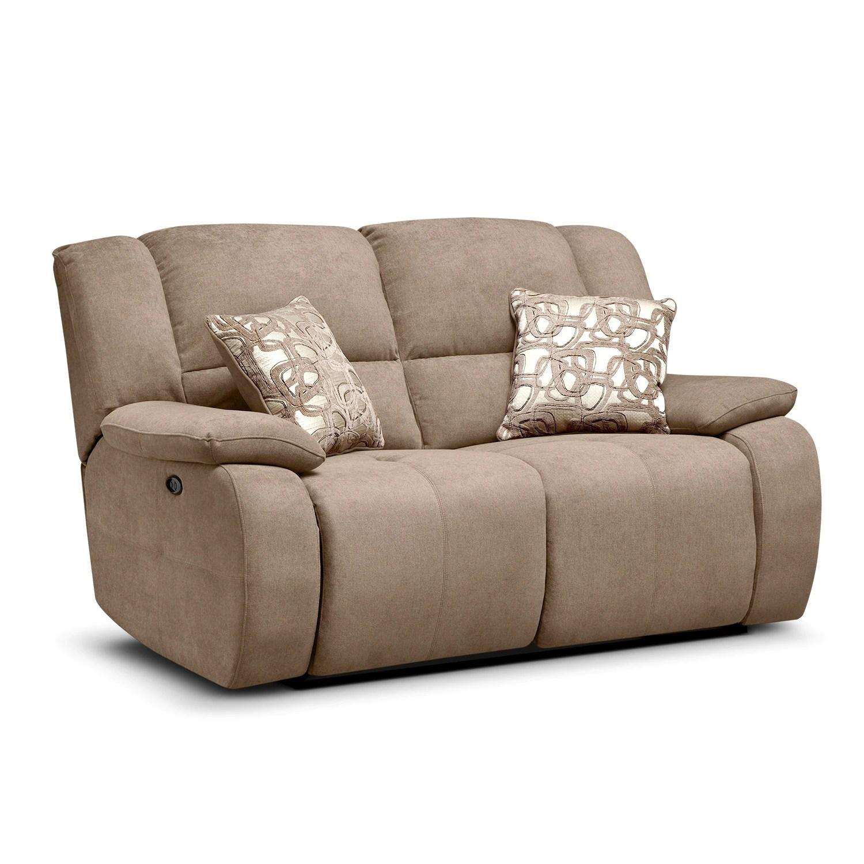 best thing to clean cream leather sofa kilmarnock vs dundee sofascore destin beige power reclining loveseat value city