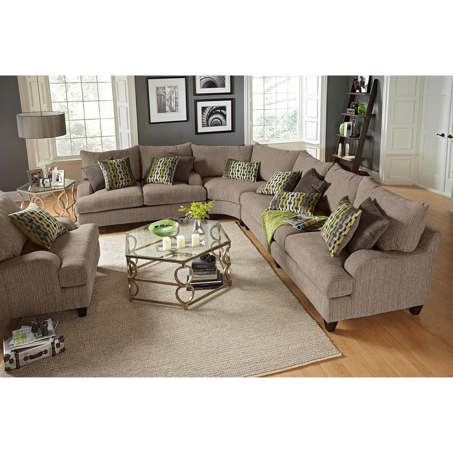 rooms to go santa monica sofa reviews signature design by ashley harvest ii 3 piece sectional value city furniture