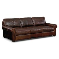 Burnham Leather Sofa - Value City Furniture