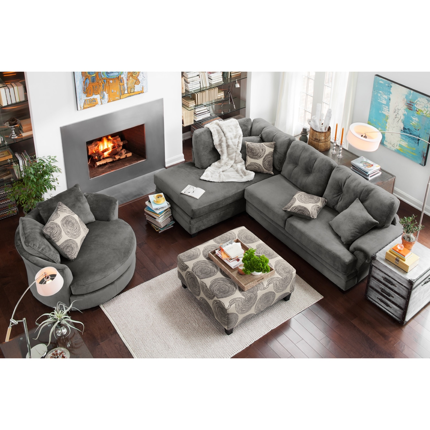 value city furniture marco chaise sofa where can i buy a bed mattress cordelle 2 piece left facing sectional gray