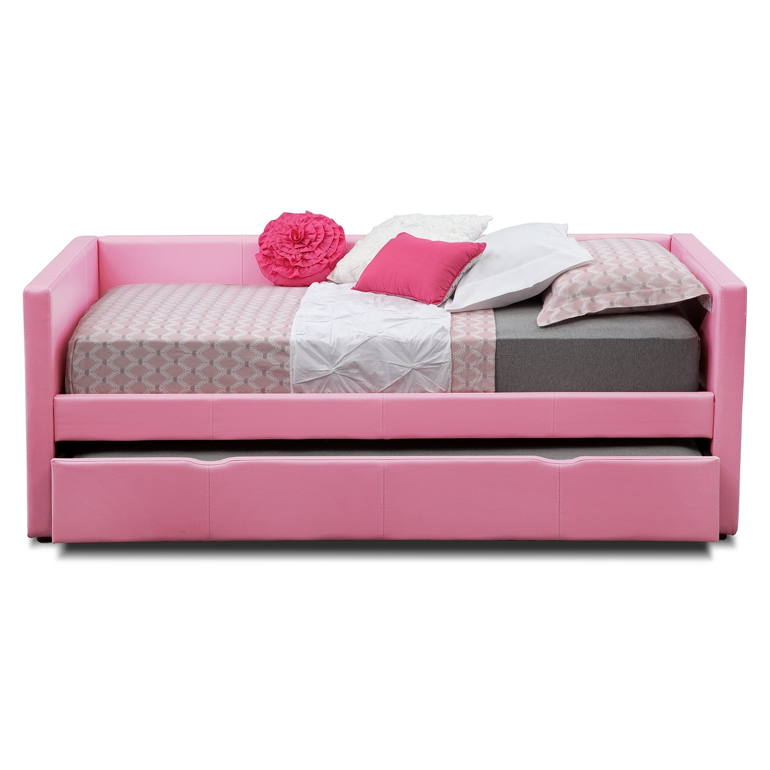pink sofa bed for sale costco carey full daybed with trundle american signature