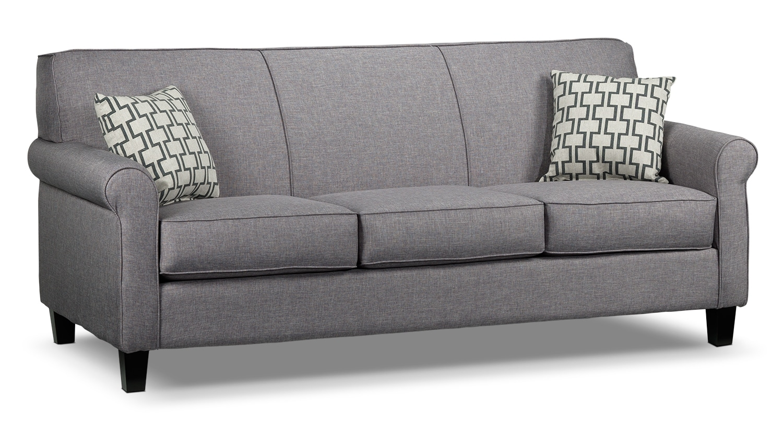 leon s sofas marshfield furniture sofa sleeper ariel silver grey 39s