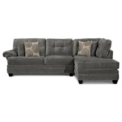 Value City Furniture Marco Chaise Sofa Kivik Assembly Review Cordelle 2 Piece Right Facing Sectional Gray