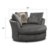 Cordoba Gray Upholstery Swivel Chair - Value City Furniture