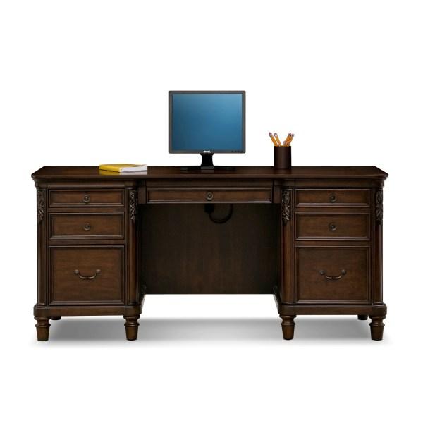 Ashland Credenza Desk - Cherry American Signature Furniture