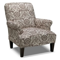 Living Room Chair The Voice Candice Accent Gray And Cream Value City Furniture