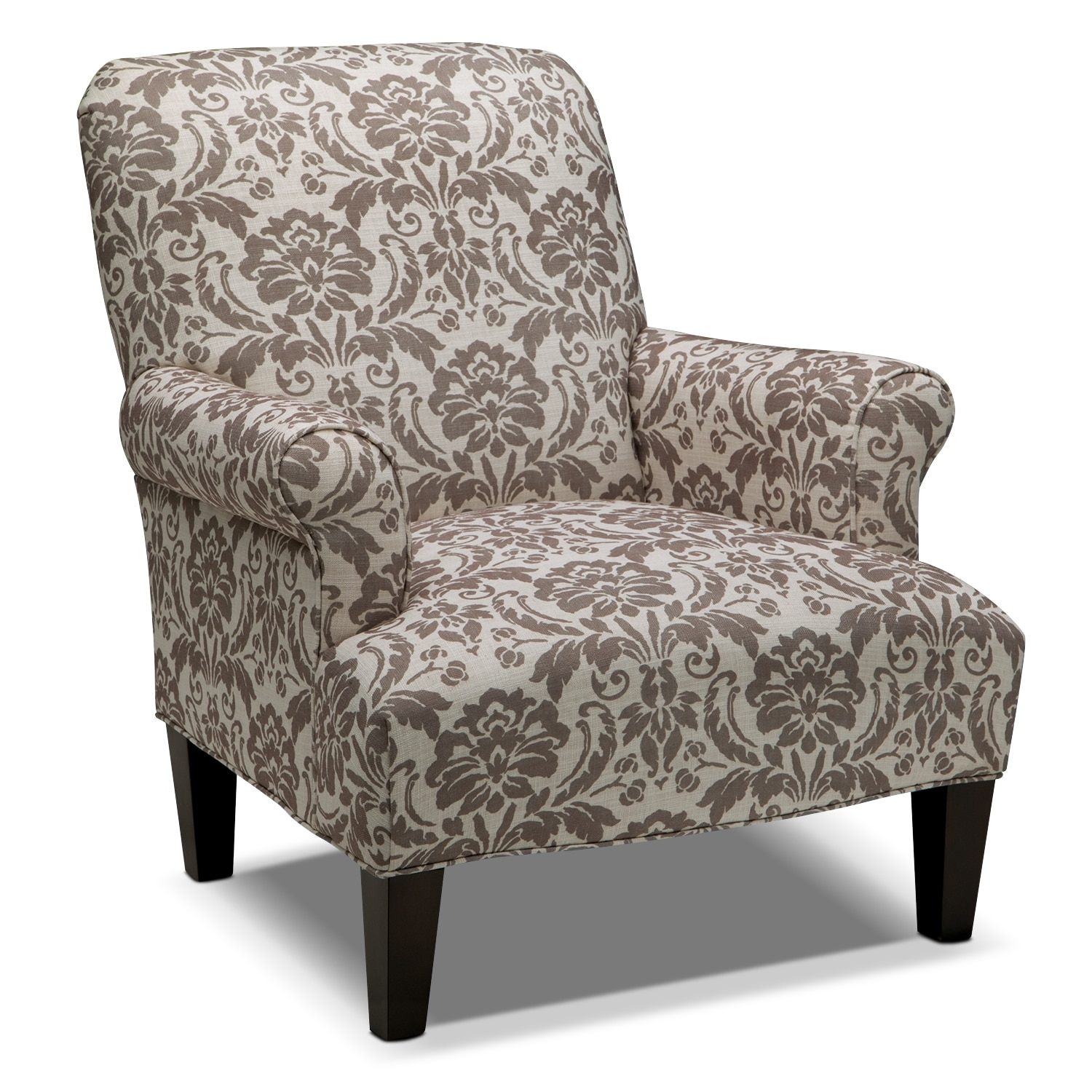 Cream Accent Chair Candice Accent Chair Gray And Cream Value City Furniture