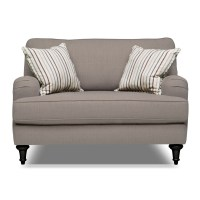 Candice Chair and a Half - Gray | Value City Furniture