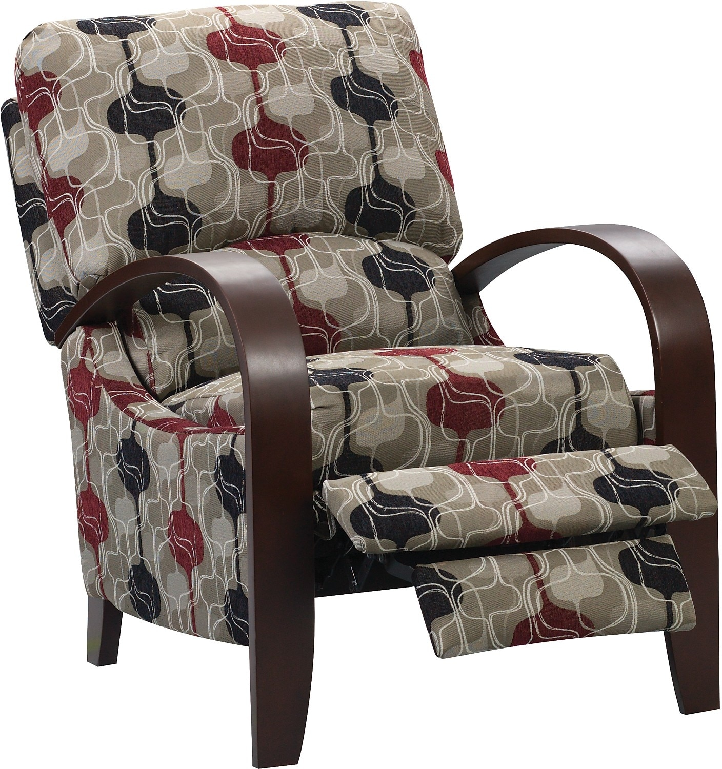 Accent Recliner Chairs Aaron Reclining Fabric Accent Chair Lava The Brick