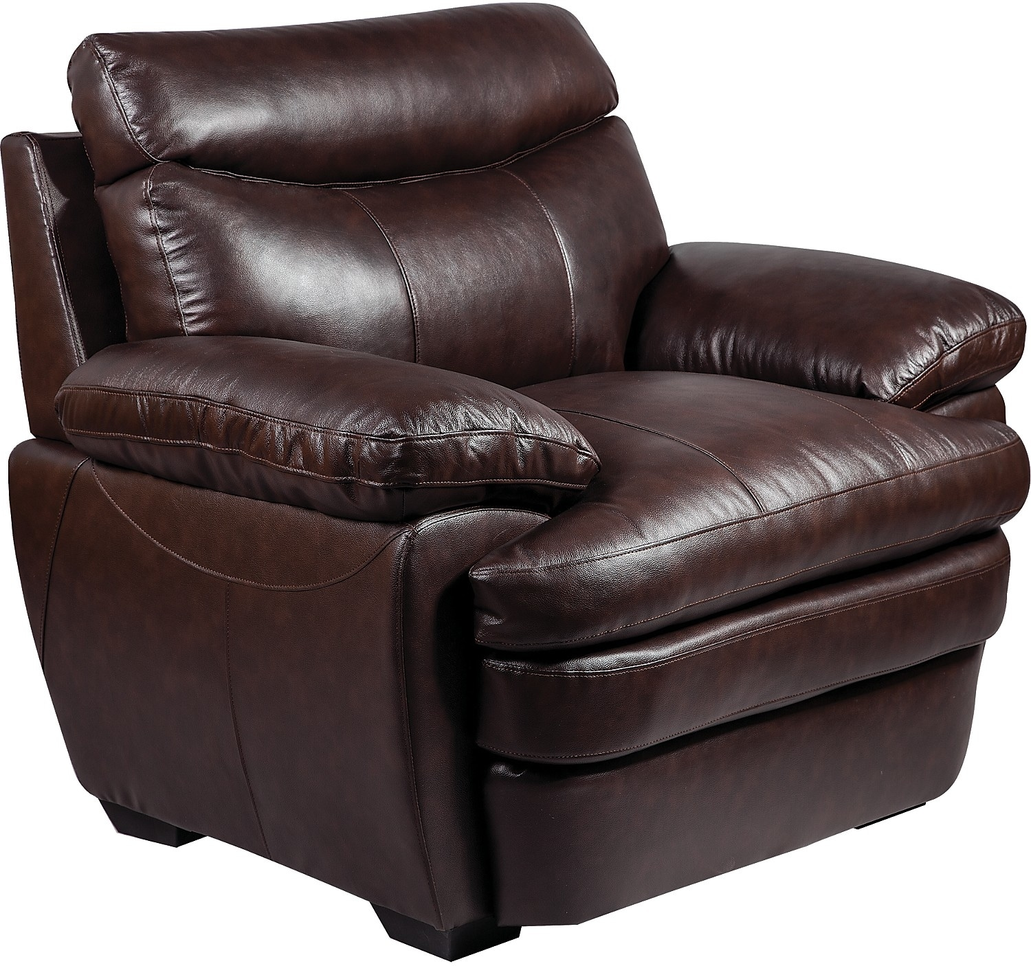 Marty Genuine Leather Chair  Brown  The Brick