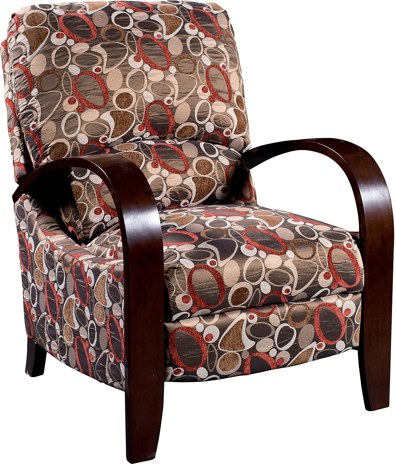 reclining accent chair oak rocking plans aaron fabric copper the brick