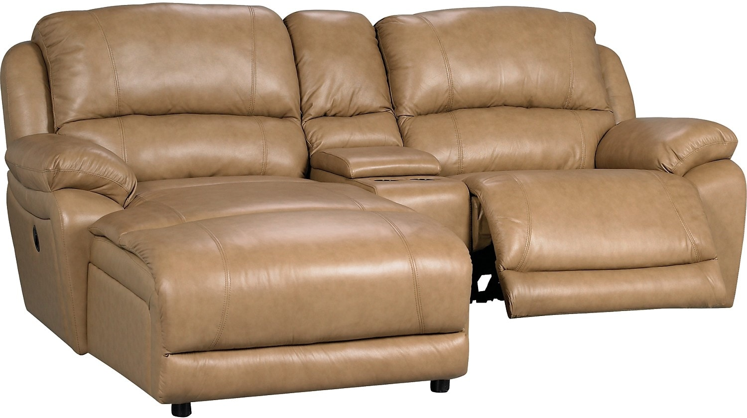 the brick cindy crawford reclining sofa old leather repair marco genuine 3 piece sectional with chaise power