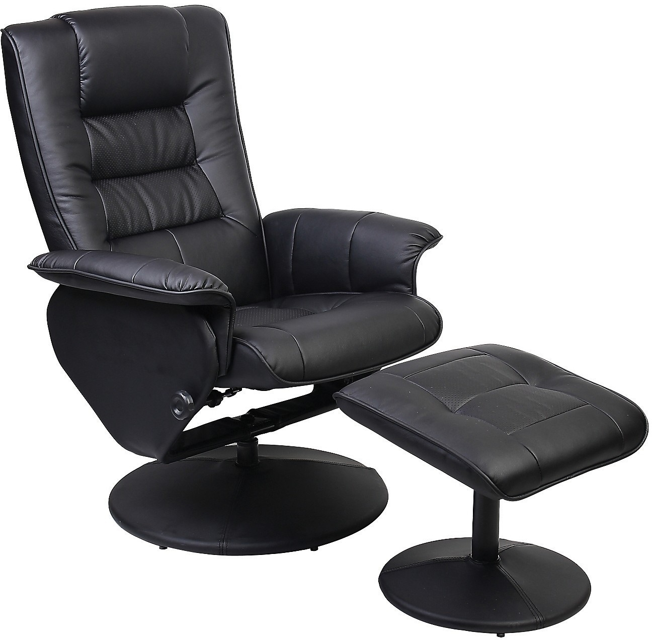 Dallas Cowboy Chair Duncan Reclining Chair W Ottoman Black The Brick