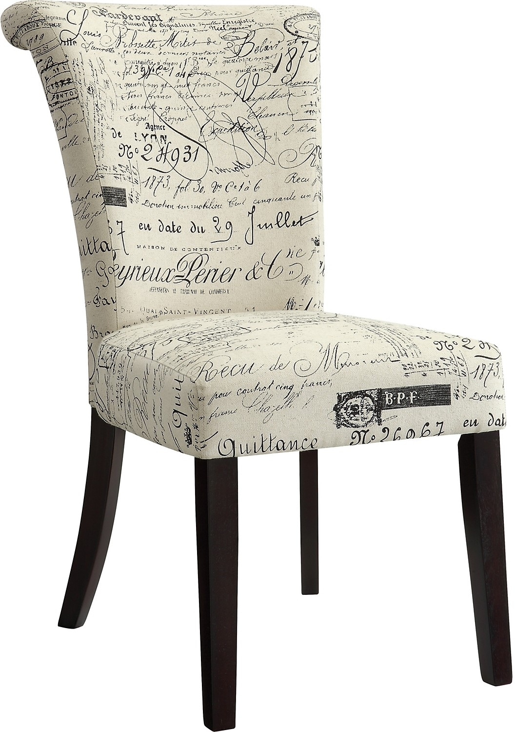 accent dining chairs chair cover hire ashford kent french script the brick