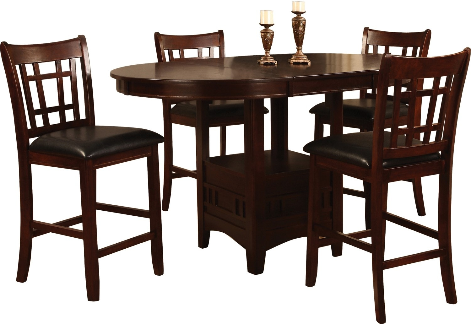Counter Height Dining Room Chairs Dalton 5 Piece Chocolate Counter Height Dining Package