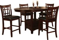 Dalton 5 Piece Chocolate Counter-Height Dining Package ...