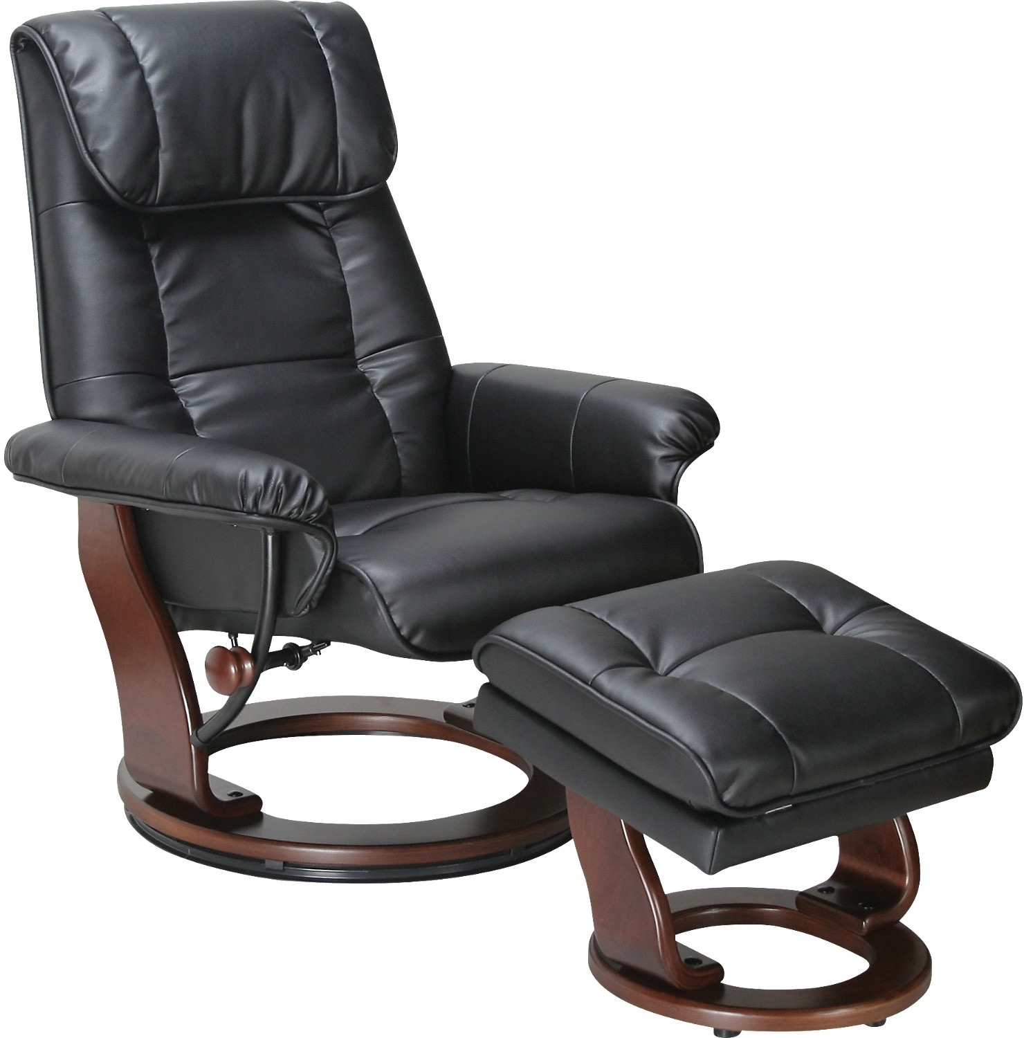 recliner chair with ottoman manufacturers farmhouse table and 4 set dixon black reclining the brick