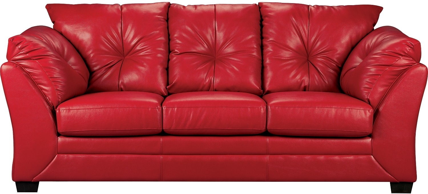 white leather sofa sale kids sleeper sofas max faux - red | the brick