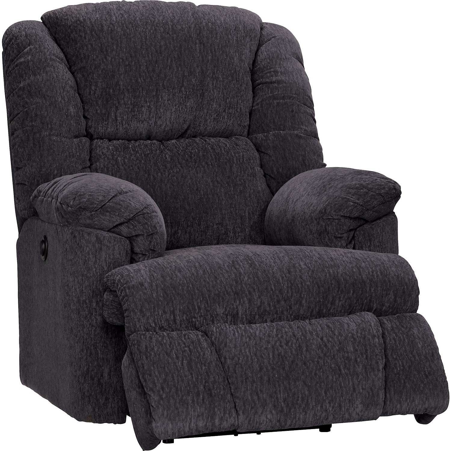 Gray Recliner Chair Bmaxx Grey Chenille Power Recliner The Brick