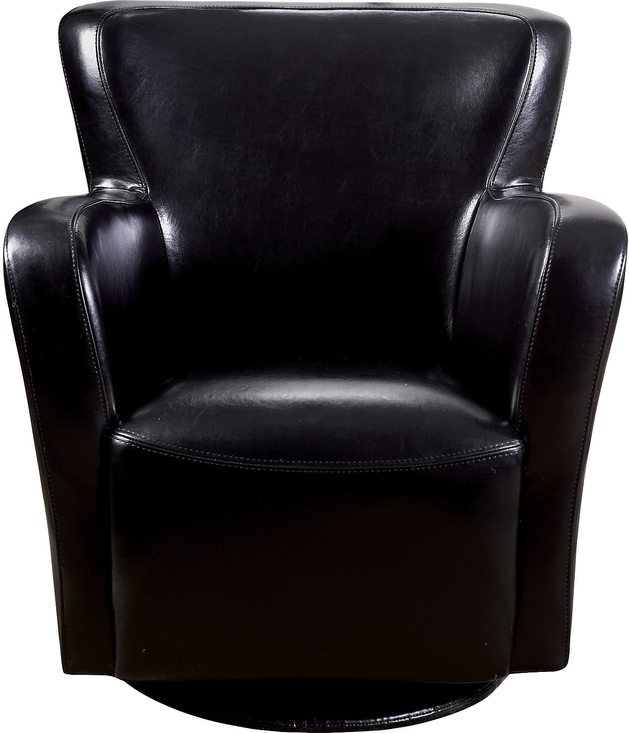 Black Swivel Chair Bonded Leather Swivel Chair Black United Furniture