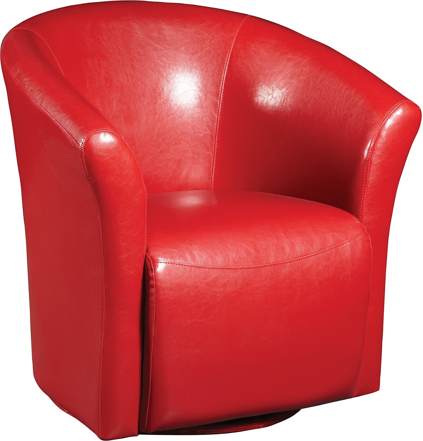 Red Swivel Chair Ethan Red Faux Leather Swivel Accent Chair The Brick