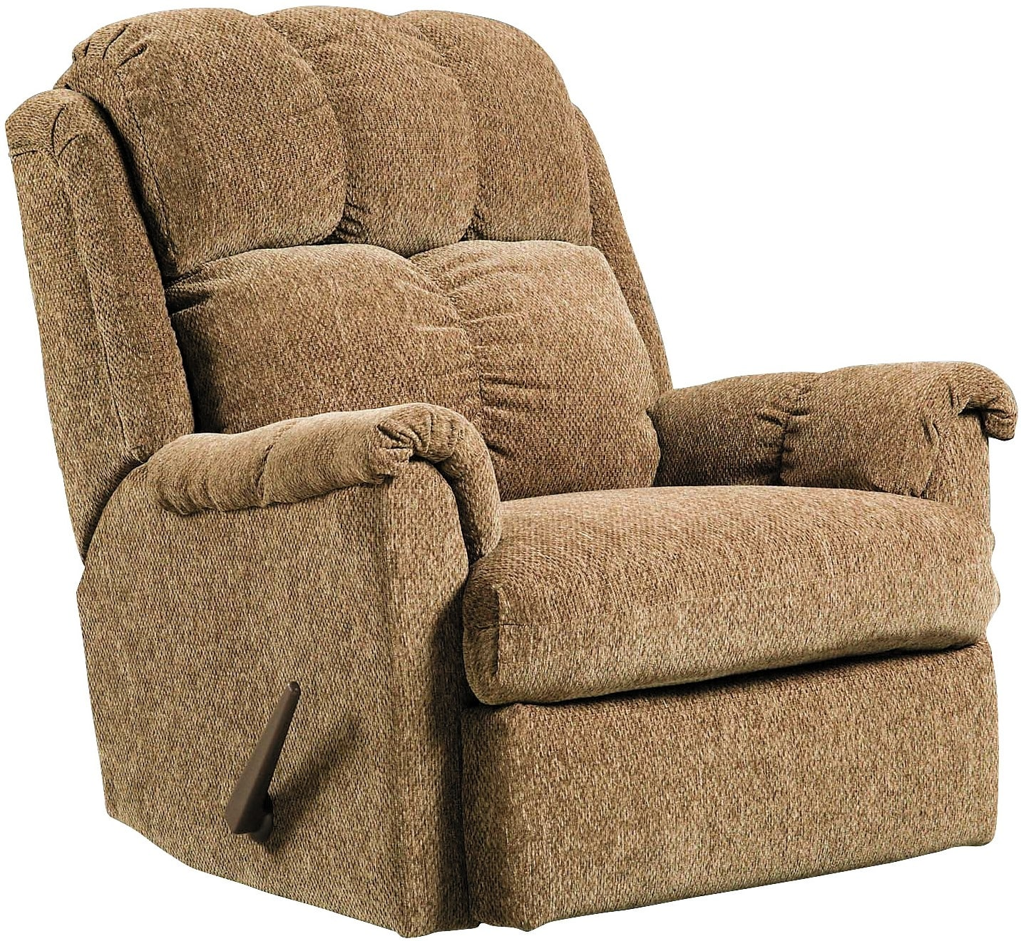 Electric Rocking Chair Brown Chenille Rocker Recliner The Brick