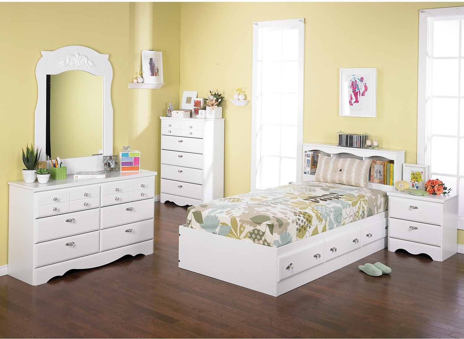 Kids Bedroom Chairs Diamond Dreams 6 Piece Twin Mates Bed Bedroom Package