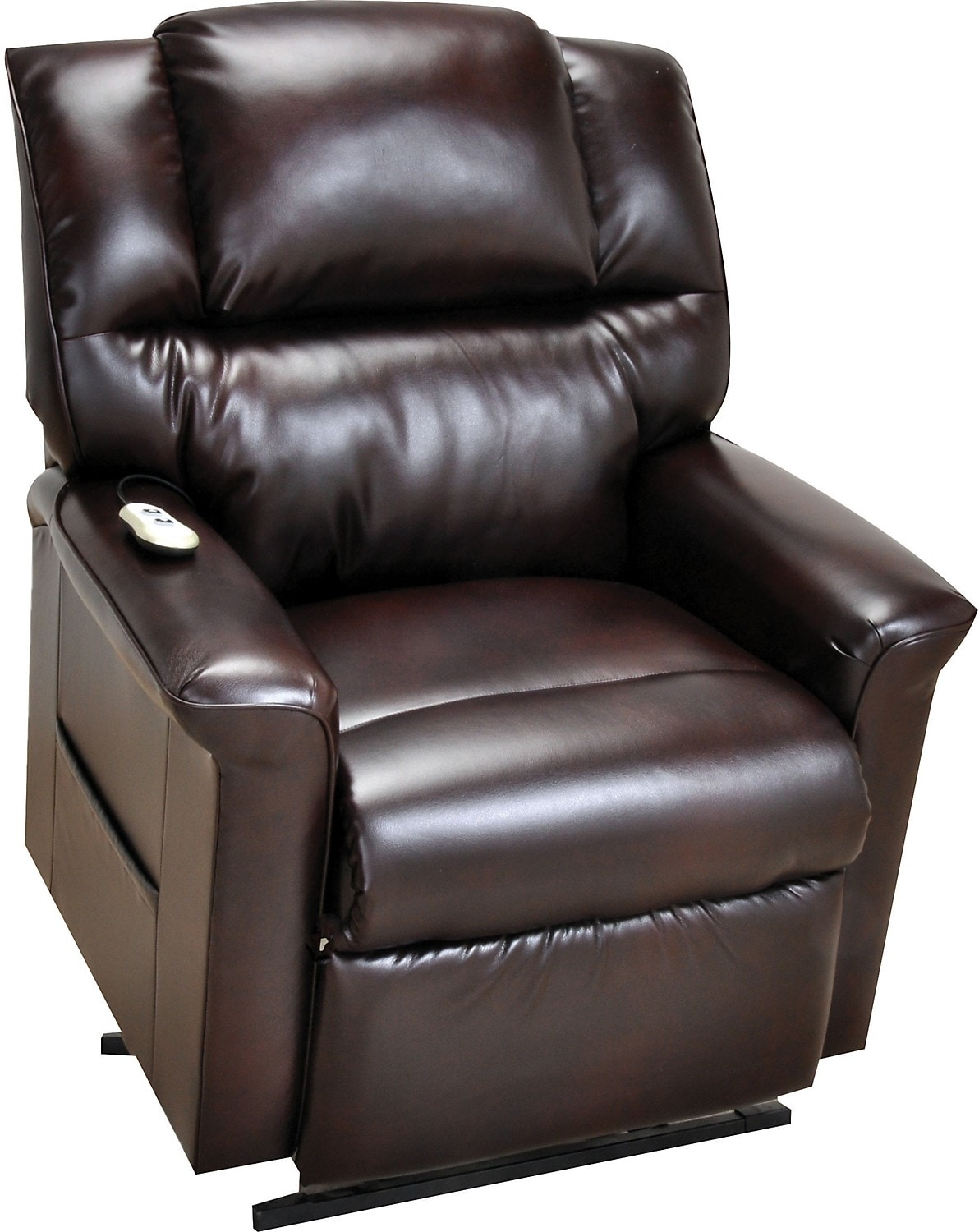 Lift Chairs Recliners Bonded Leather 3 Position Power Lift Recliner Brown