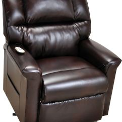 Power Recliner Sofa Canada Furniture Row Mart Davenport Bonded Leather 3 Position Lift Brown