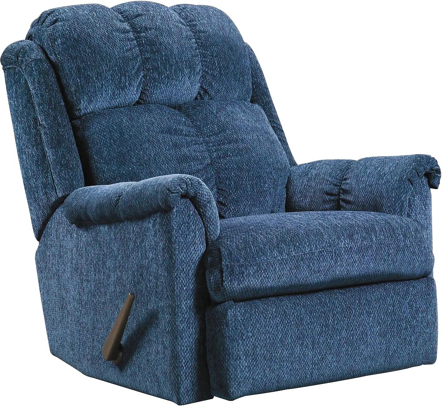 navy rocking chair wheelchair marathon chenille rocker recliner the brick