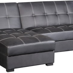 Crawford Futon Sofa Bed With Storage Sectional Covers India Belize 2 Piece Chaise Black The Brick