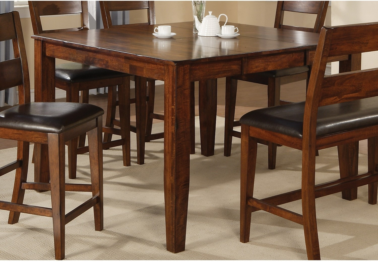 Dakota Light 6-Piece Pub-Height Dining Package