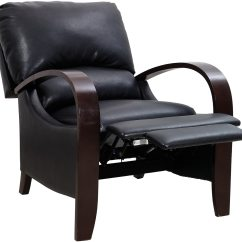 Recliner Accent Chairs Hickory Chair Leather Couch Aaron Black Reclining The Brick