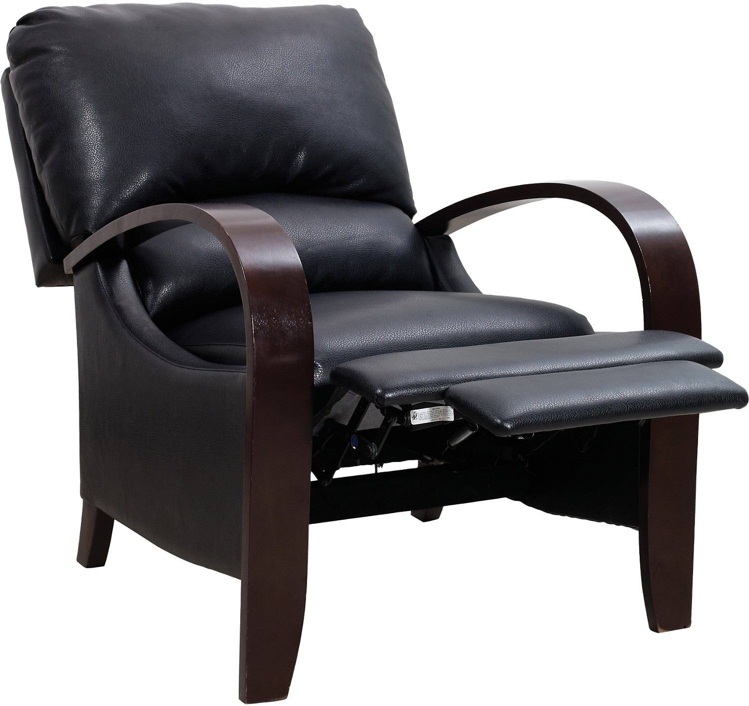 Black Living Room Chair Aaron Black Reclining Accent Chair The Brick